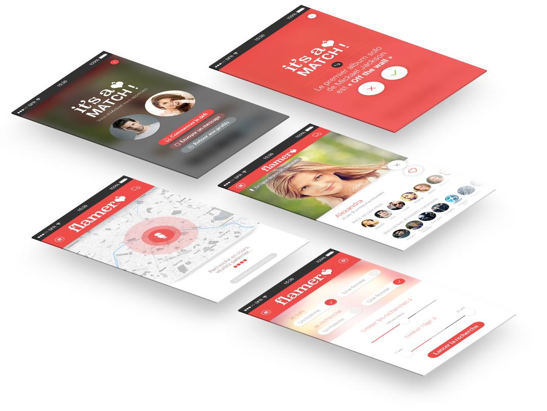 screen app - Application de rencontre Flammer